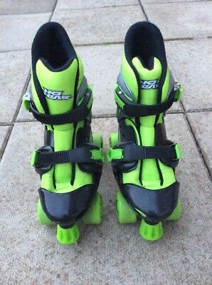 No Fear Roller Boots Green And Black Sizes 1-4