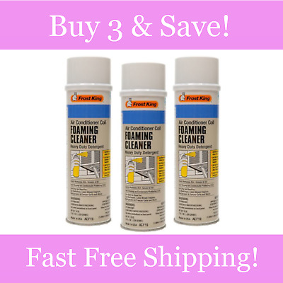 Frost King Air Conditioner Foaming Cleaner Removes Dirt Grease 19 oz (3 Pack)