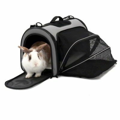 Pet Carrier Travel Transport Freedom Handle Shoulder Bag Foldable Side Extension