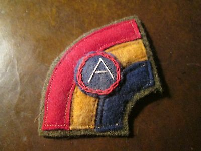 WWI US Army patch 42nd Rainbow Division,3rd Third Army patch AEF