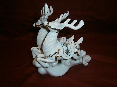 Lenox Dash Away All Dasher and Dancer Reindeer  No Box