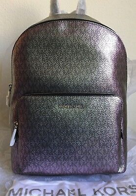 1d858a06c771 NWT MICHAEL MICHAEL KORS Wythe Large Logo Iridescent Backpack  328 ...