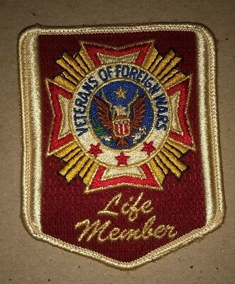Veterans of Foreign Wars VFW Life Member Patch