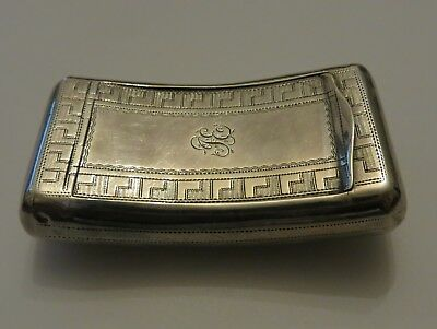 Antique George III SAMUEL PEMBERTON solid STERLING SILVER & gilt snuff box 51g