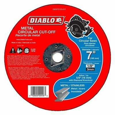 Diablo Type 1 7 In. x 1/8 In. x 5/8 In. Metal Cut-Off Wheel