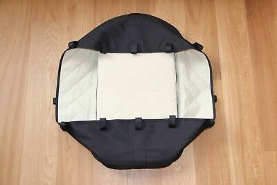 BUGABOO FROG Carrycot Bassinet with mattress & board BLACK *EXCELLENT CONDITION*