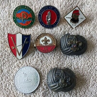 Lot of BSA metal neckerchief slides - Regions 3, 5 & 10, Philmont, 50 years BSA