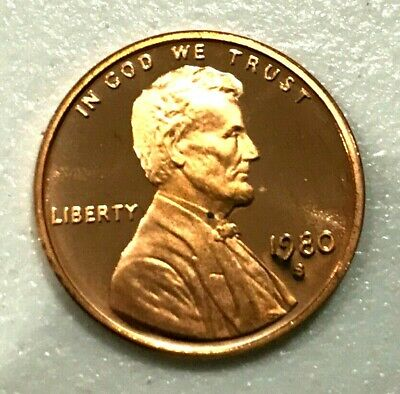1980 S Lincoln Cent GEM DCAM PROOF from PROOF Set