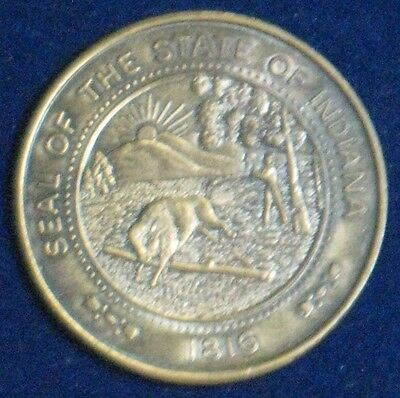"""Seal of the State of Indiana [1816] /Indiana Sesquincentennial [1816-1966] ~1.5"""""""