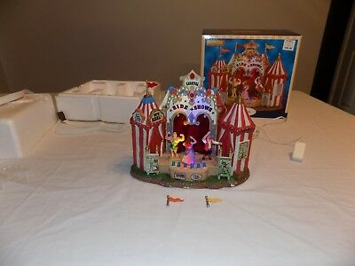 Lemax Village Circus Freak Side Show Vintage Rare Retired Carnival Animated