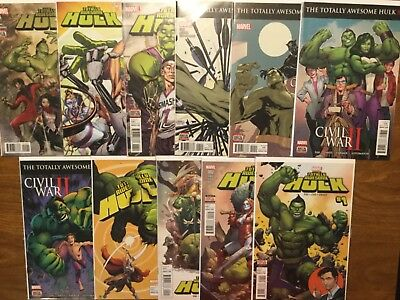 Marvel 2016 The Totally Awesome Hulk 1-15 Not Complete Greg Pak Miles Morales