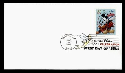 DR WHO 2005 FDC ART OF DISNEY CELEBRATION MICKEY MOUSE ANAHEIM CA  d30151