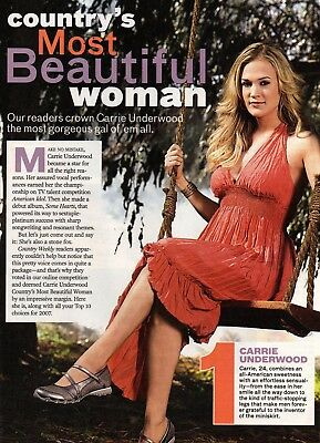 Carrie Underwood 1 Page Magazine Picture Clipping Country Music