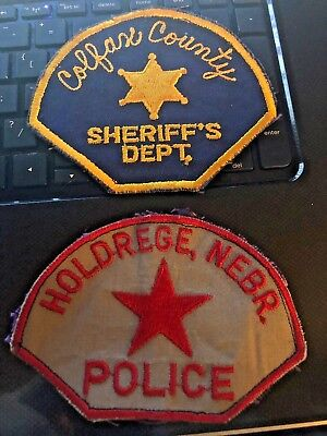 Colfax County Sheriff & Holdrege Police Nebraska Patches Obsolete Patches