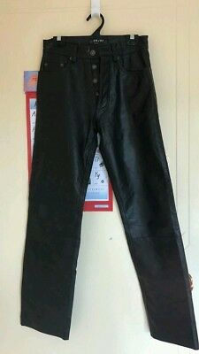 Vintage genuine leather ladies pants / jeans in goat nappa by ENJOY