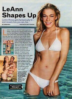 LeAnn Rimes 1 Page Magazine Picture Clipping Country Music Bikini