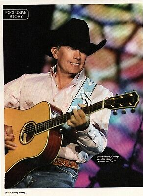George Strait 4 Page Magazine Article Clipping 6 Pictures Country Music