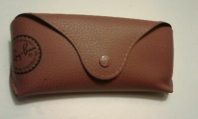 Vintage Ray Ban leather eye glasses / sun glasses case