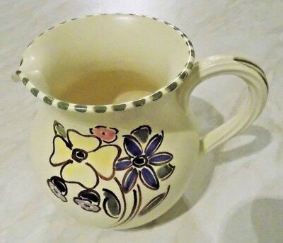 Honiton Pottery Hand Painted Milk Cream Pouring Jug Devon Studio Kitchen Home