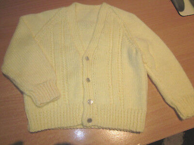 Boy's Hand Knitted Baby Cardi Size 000  New Without Tags