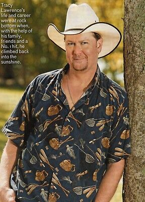 Tracy Lawrence 2 Page Magazine Article Clipping 4 Pictures Country Music