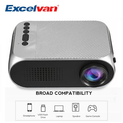 Multimédia 1080P HD Projecteur LED+LCD Projector Home Cinema HDMI USB AV TF