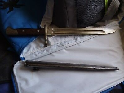 """Chilean Bayonet 10"""" Blade with matching number Scabbard"""