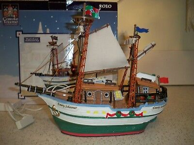 Lemax Carole Towne Emery Schooner Lighted Boat