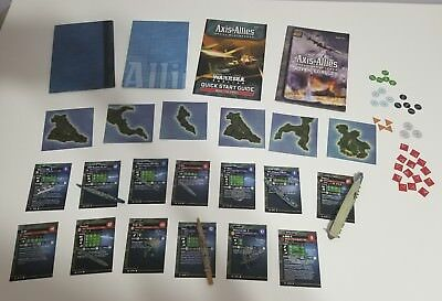 Axis and Allies War at Sea Lot 13 Figures Plus Map Pieces