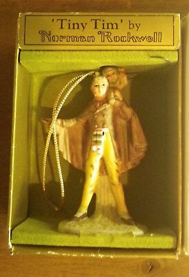 Tiny Tim Christmas Ornament Norman Rockwell World of Gorham 1979