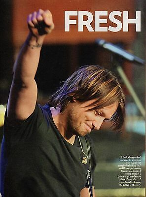 Keith Urban 2 Page 2007 Magazine Article Clipping 3 Pictures Country Music