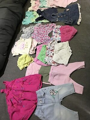 bulk baby girls clothes - Size 000 25 Items