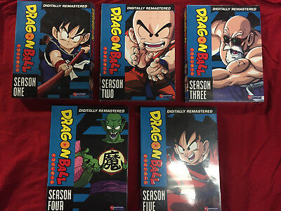 Dragon Ball The Complete Series Seasons 1-5 New Free Shipping