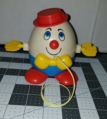 Vintage Fisher Price Humpty Dumpty Red Hat Lot Pull Toys @@RARE@@!! Hard to find