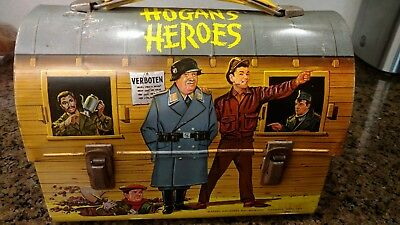 Rare 1966 Hogan's Heroes Metal Dome Lunchbox. No Thermos Looks Great!
