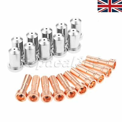 10pk Nozzles 33418 + 10pk Electrodes 33366 80A for PT-23 PT-27 Plasma Torches UK