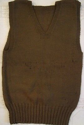 Wwii U.s. Army Wool Knit Pullover Sleeveless Sweater As Worn By Eto Soldier