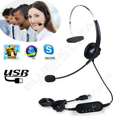 USB Wired Comfortable Headset Stereo Headphone&Noise Cancelling Microphone fr PC