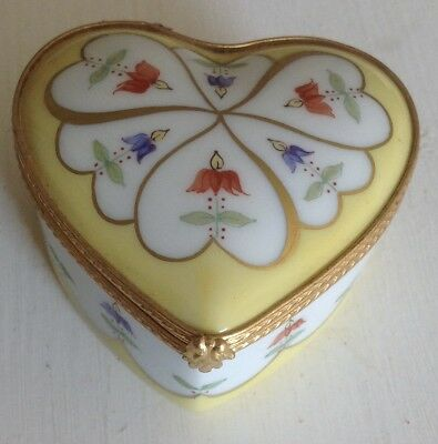 Tiffany & Co Private Stock Coeurs Fleuris Le Tallec Heart Shaped Box c.1955