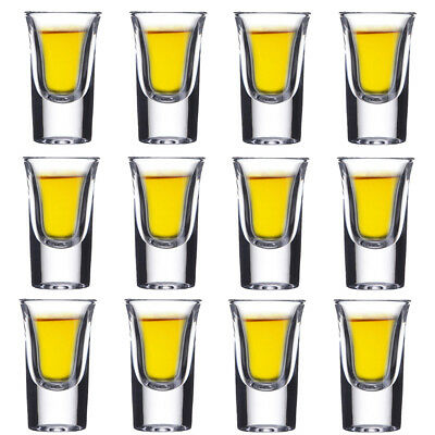 Tequila Vodka Whiskey Shot Glasses ( Set of 12 ) Crystal Tumbler Wine Glass Cup