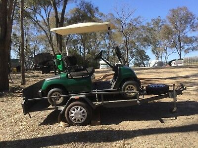 Yamaha golf buggy cart and registered tilt trailer