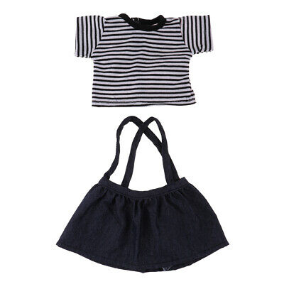 Cute Doll Suspender Skirt Suit Overall Clothes for 18inch American Girl Doll