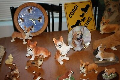 welsh corgi figurine collection of over 60 items