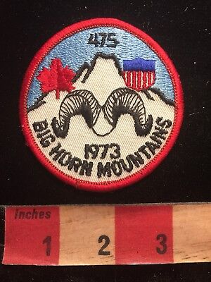 Vintage 1973 Troop 475 BIG HORN MOUNTAINS Boy Scouts Patch 87N9
