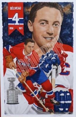 Jean Beliveau Montreal Canadiens Limited Edition  Art Lithograph Glen Green