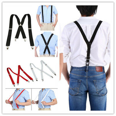Men Women Trousers Suspenders Elastic Y-Shape / X-Back Adjustable Elastic Braces