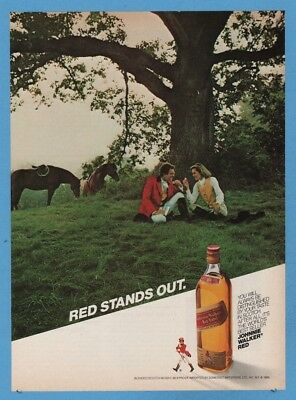 1985 Johnnie Walker Red Stands Out horse riding theme photo ad