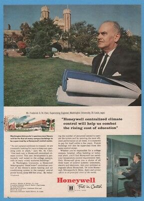 1961 Washington University in St. Louis library Fredrick St Clair Honeywell ad