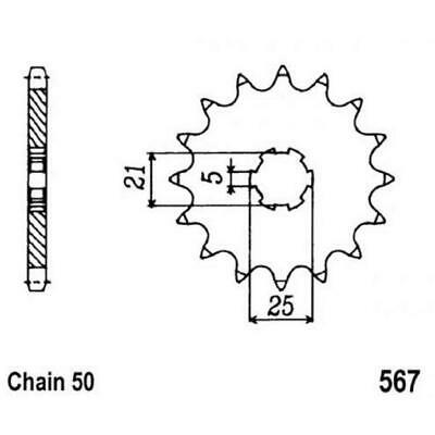NEW SPROCKET FRONT MTX 567 15T #530 10-021-15 from Moto Heaven