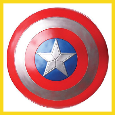 New 32CM The Avengers Captain  Captain America Assemble Shield Cosplay Toy Red